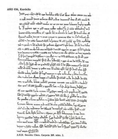Dotación al monasterio de San Andrés de Asia (hoy Aja),